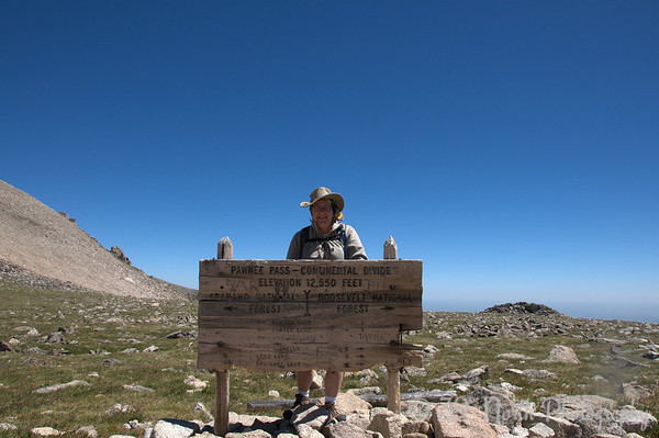 Our intrepid photographer at Pawnee Pass on the Continental Divide.
