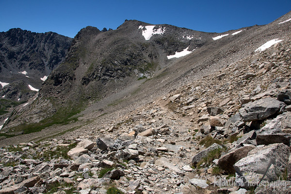 Talus slope and Shoshoni Peak